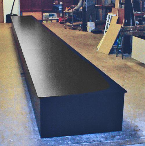 Catwalk-podie, 10,5 m langt.