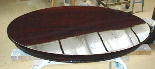 Istandgørelse og oplakering af mahognibord.