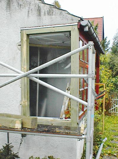Udskiftning af defekt tømmer omkring vinduesparti, Frederiksberg